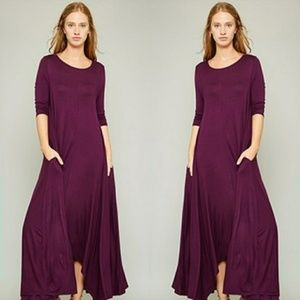 Dresses & Skirts - 🌟New Arrival 🌟3/4 Sleeve High-Low Maxi Dress